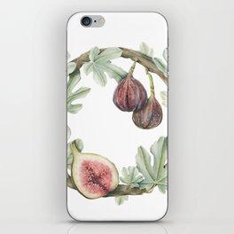Fig Wreath iPhone Skin