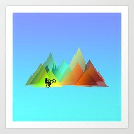 MTB Moutains Colors Art Print