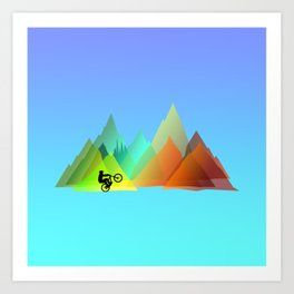MTB Moutains Colors Art Print