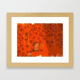in the fall when we fell in love Framed Art Print