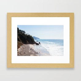Hug Point 1 Framed Art Print