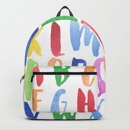Watercolor Alphabet Backpack