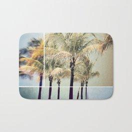 Beach Palms collage Bath Mat