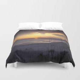 Cape San Blas Sunset  Duvet Cover