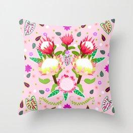 King Protea Garden Throw Pillow