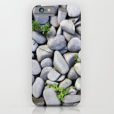 Sea Stones - Gray Rocks, Texture, Pattern iPhone 6s Slim Case