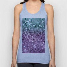 Mermaid Scales on Aqua Purple MERMAID Girls Glitter #2 #shiny #decor #art #society6 Unisex Tank Top