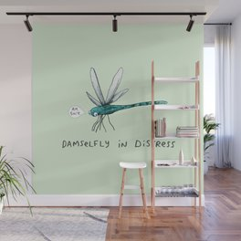 Damselfly in Distress Wall Mural