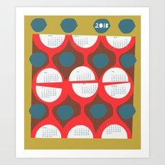 2013 retro calendar Art Print