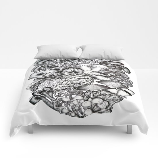 A Medley of Mushrooms Comforters