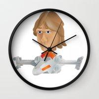 luke hemmings Wall Clocks featuring Luke  by Justin Ensor