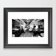 Somethings Fishy [Black & White] Framed Art Print