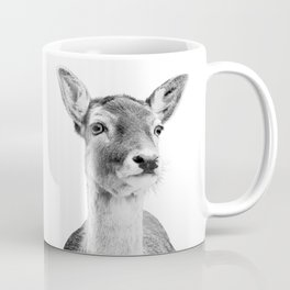 Deer Photo | Black and White Coffee Mug