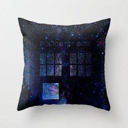 Tardis Doctor Who time machine Throw Pillow