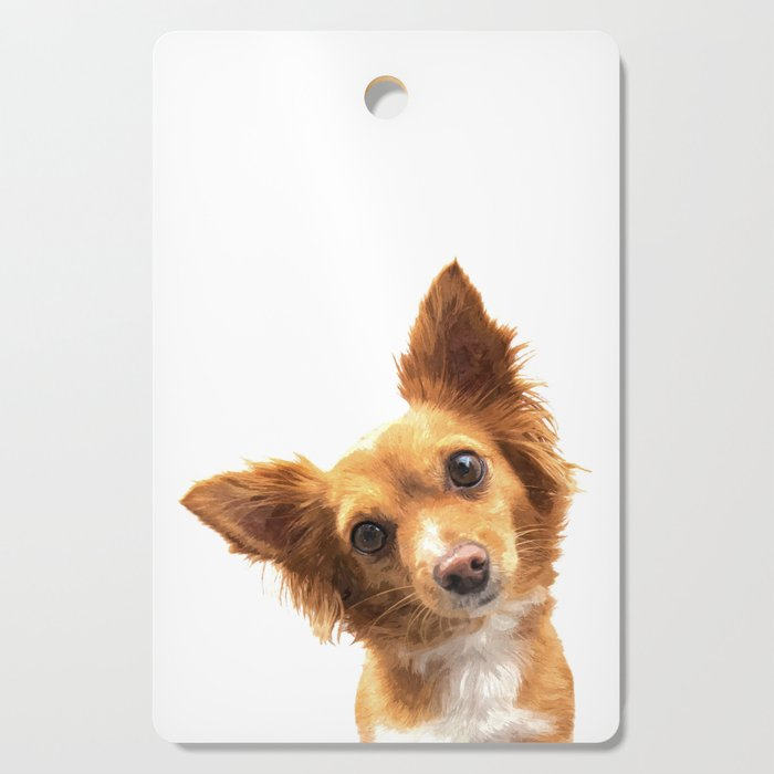 Curious Dog Portrait Cutting Board