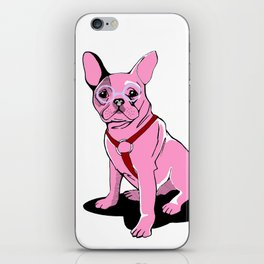 Frenchie_Pink iPhone Skin