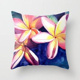 Plumeria Garden 3 Throw Pillow