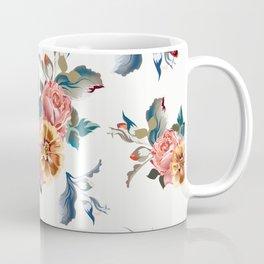 Retro design in English Victorian floral style Coffee Mug