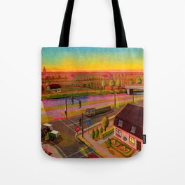 sunset in holland Tote Bag