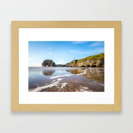 Nun's Beach Reflections Framed Art Print