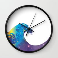 hokusai Wall Clocks featuring Hokusai Universe by FACTORIE