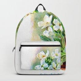 J Eudes - Arabis albida - vintage botanical print Backpack