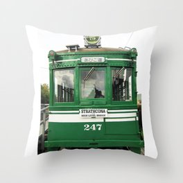 Strathcona Streetcar Throw Pillow