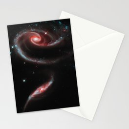 Rose of Galaxies Stationery Cards