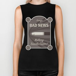 Percy's Bad News - Nothing Travel's Faster! Biker Tank