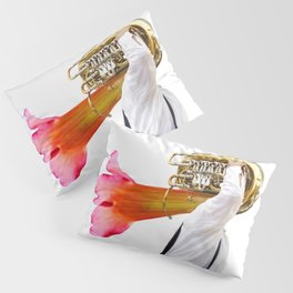 Musician and Flower Horn Pillow Sham