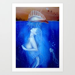 Prelude of Corion (portuguese woman-of-war) Art Print