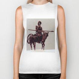 Don Quixote by Shimon Drory Biker Tank