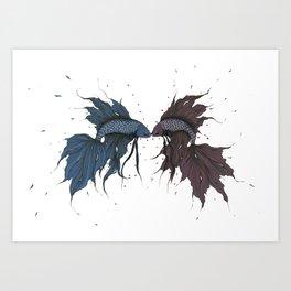 Fighting Fish Art Print