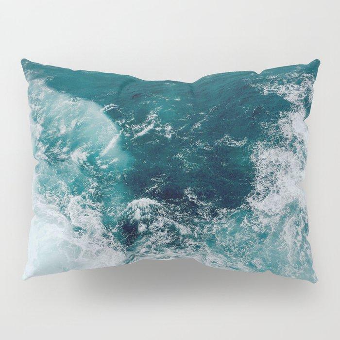 Ocean Waves (Teal) Pillow Sham