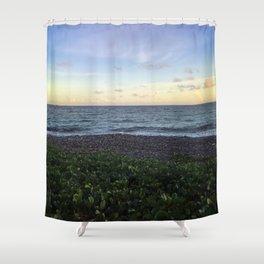 Beach Horizon - Sunset Landscape Shower Curtain
