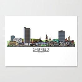 Sheffield Icons - Skyline Canvas Print