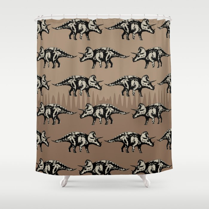 ChocoPaleo: Triceratops Shower Curtain