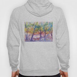 Spring landscape watercolor Hoody