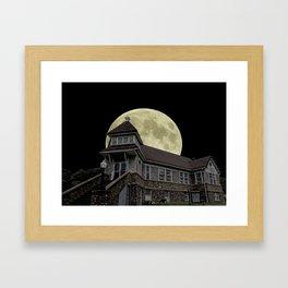 Super Moon Rising Framed Art Print