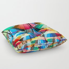Under My Umbrellas Floor Pillow