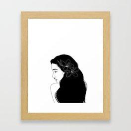 honeygirl   white Framed Art Print