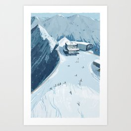 Skiing in Austria Art Print