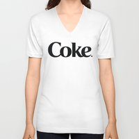 coke V-neck T-shirts featuring Do Coke by Startled Artist