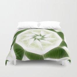 Green White Kaleidoscope Art 9 Duvet Cover