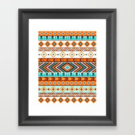 Tribal Pattern Framed Art Print