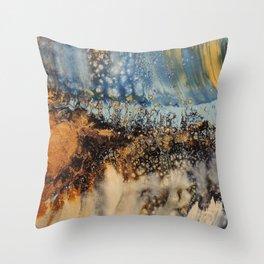 Copper Blue Serenade Throw Pillow