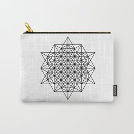 Star tetrahedron, sacred geometry, void theory Carry-All Pouch