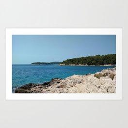 coastline bay at summer pula croatia istria Art Print