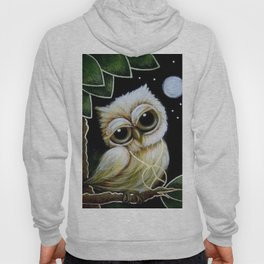 BLONDIE TINY OWL WITH PEACE PENDANT Hoody