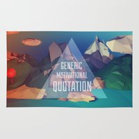 motivational Area & Throw Rugs featuring Generic Motivational Quotation by Chris Asquith